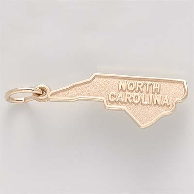 14K Gold North Carolina Charm by Rembrandt Charms
