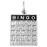 14K White Gold Bingo Card Charm by Rembrandt Charms
