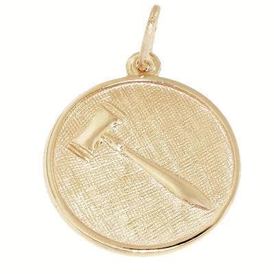 10K Gold Gavel Disc Charm by Rembrandt Charms