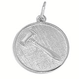 Sterling Silver Gavel Disc Charm by Rembrandt Charms