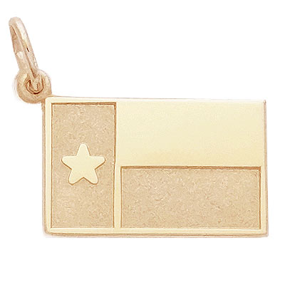 14k Gold Texas Flag Charm by Rembrandt Charms
