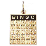 14k Gold Bingo Card Charm by Rembrandt Charms