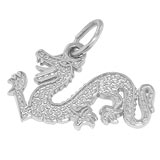 Sterling Silver Dragon Charm by Rembrandt Charms