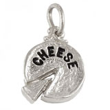 14K White Gold Cheese Charm by Rembrandt Charms