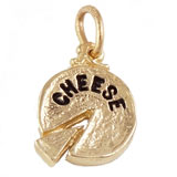 14K Gold Cheese Charm by Rembrandt Charms