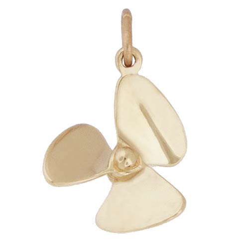 Gold Plate Small Propeller Charm by Rembrandt Charms