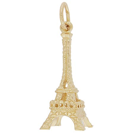 14k Gold Medium Eiffel Tower Charm by Rembrandt Charms
