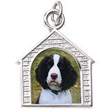 14k White Gold Dog House PhotoArt® Charm by Rembrandt Charms