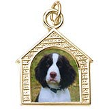 14k Gold Dog House PhotoArt® Charm by Rembrandt Charms