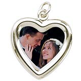14K White Gold Small Heart PhotoArt® Charm by Rembrandt Charms