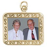 10K Gold Rectangle Scroll PhotoArt® Charm by Rembrandt Charms