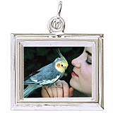 14K White Gold Small Rectangle PhotoArt® Charm by Rembrandt Charms
