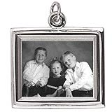 14K White Gold Large Rectangle PhotoArt® Charm by Rembrandt Charms