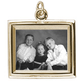 10K Gold Large Rectangle PhotoArt® Charm by Rembrandt Charms