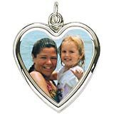 Sterling Silver Large Heart PhotoArt® Charm by Rembrandt Charms