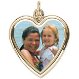 10K Gold Large Heart PhotoArt® Charm by Rembrandt Charms