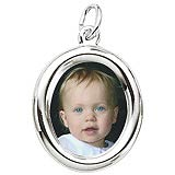 Sterling Silver Small Oval PhotoArt® Charm by Rembrandt Charms