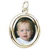 Gold Plated Small Oval PhotoArt® Charm by Rembrandt Charms