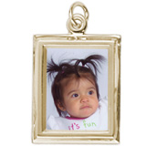 10K Gold Small Rectangle PhotoArt® Charm by Rembrandt Charms