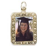 Gold Plated Rectangle PhotoArt® Charm by Rembrandt Charms
