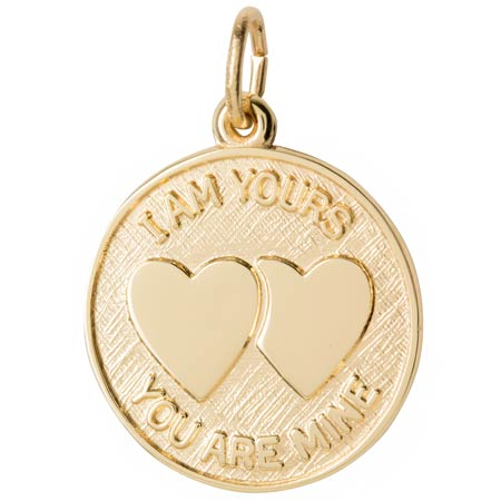 Gold Plate I Am Yours Disc Charm by Rembrandt Charms