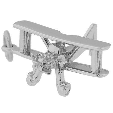 Sterling Silver Biplane Charm by Rembrandt Charms