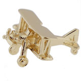 Gold Plate Biplane Charm by Rembrandt Charms