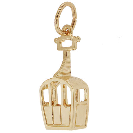 14k Gold Skiing Gondola Charm by Rembrandt Charms