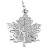 14k White Gold Maple Leaf Charm by Rembrandt Charms