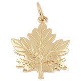 Gold Plated Maple Leaf Charm by Rembrandt Charms