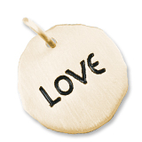 14K Gold Love Charm Tag by Rembrandt Charms