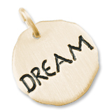 14K Gold Dream Charm Tag by Rembrandt Charms