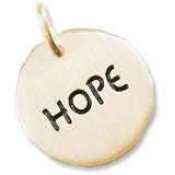 Gold Plate Hope Charm Tag by Rembrandt Charms