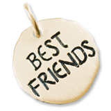 Gold Plate Best Friends Charm Tag by Rembrandt Charms