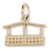 Gold Plate Aero Car Gondola Charm by Rembrandt Charms