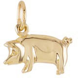 14k Gold Pig Charm by Rembrandt Charms