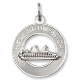 Sterling Silver New Brunswick Cruise Ship Charm by Rembrandt Charms