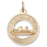 Gold Plate New Brunswick Cruise Ship Charm by Rembrandt Charms