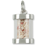 Sterling Silver Dominica Sand Capsule Charm by Rembrandt