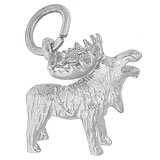 14K White Gold Moose Charm by Rembrandt Charms