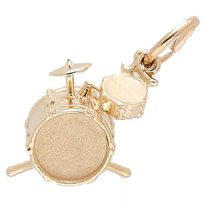 14k Gold Drum Set Charm by Rembrandt Charms