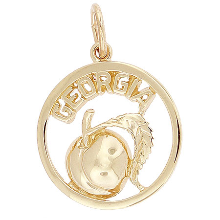 14K Gold Georgia Peach Charm by Rembrandt Charms