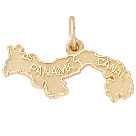 14k Gold Panama Canal Map Charm by Rembrandt Charms