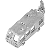 Sterling Silver RV. Motor Home Charm by Rembrandt Charms