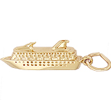 14K Gold Cruise Ship Charm by Rembrandt Charms