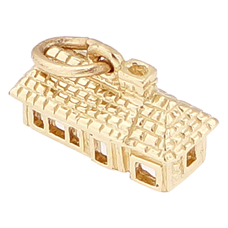 14K Gold Ranch House Charm by Rembrandt Charms