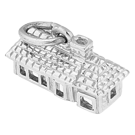 14K White Gold Ranch House Charm by Rembrandt Charms