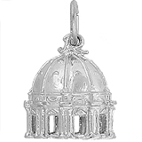 Sterling Silver St Peter's Basilica Charm by Rembrandt Charms