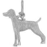 14K White Gold Weimaraner Dog Charm by Rembrandt Charms