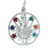 Sterling Silver Peacock Bird Charm by Rembrandt Charms